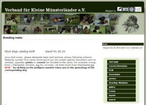 KlM-D Stud Dog Page